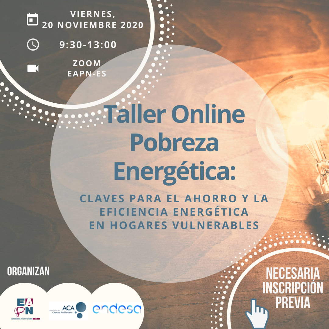 Taller online «Claves para el ahorro y la eficiencia energética en hogares vulnerables»
