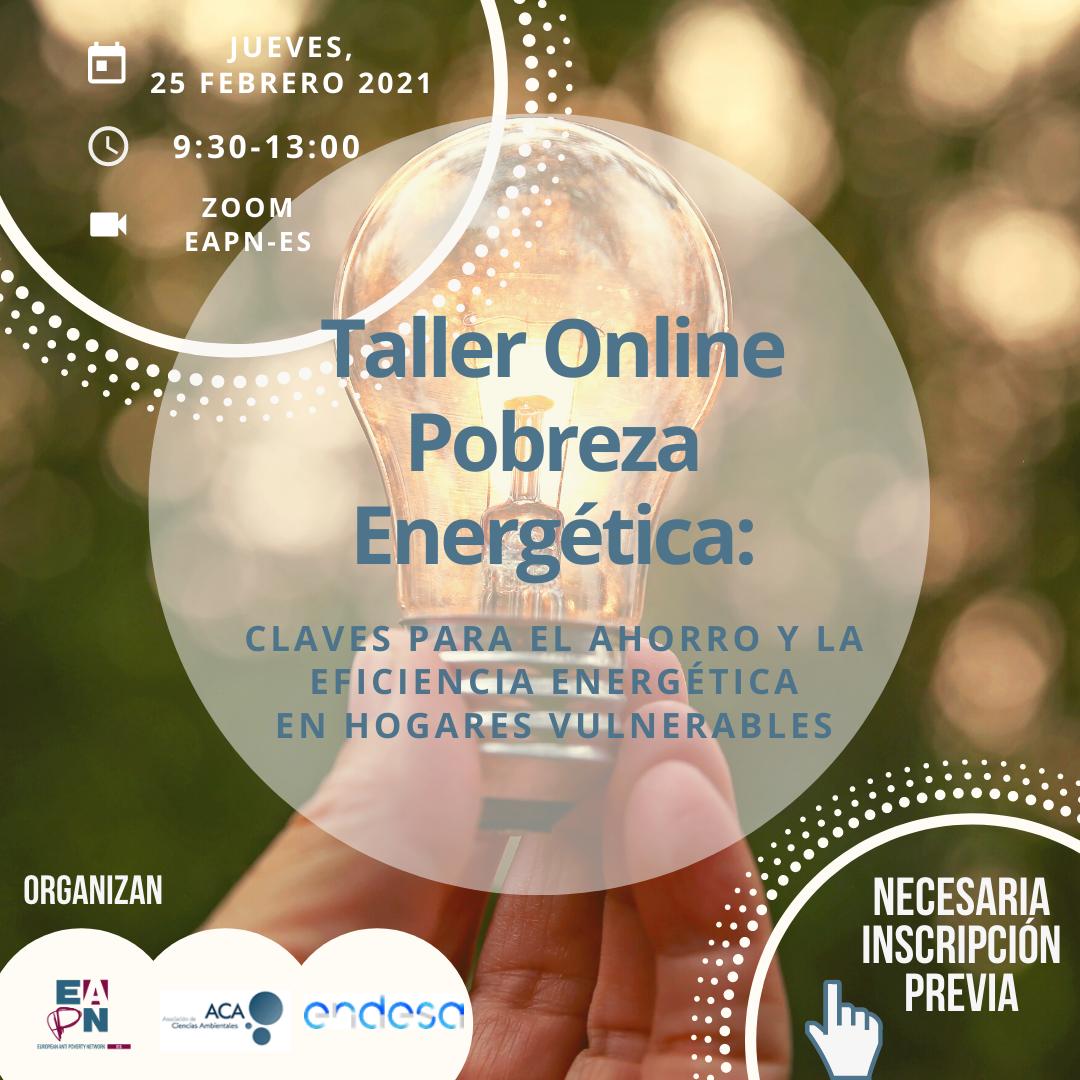 Nuevo taller online sobre pobreza energética